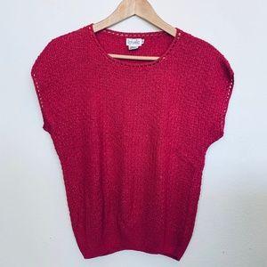 VINTAGE 80's Rafaella Silk Knitted Blouse